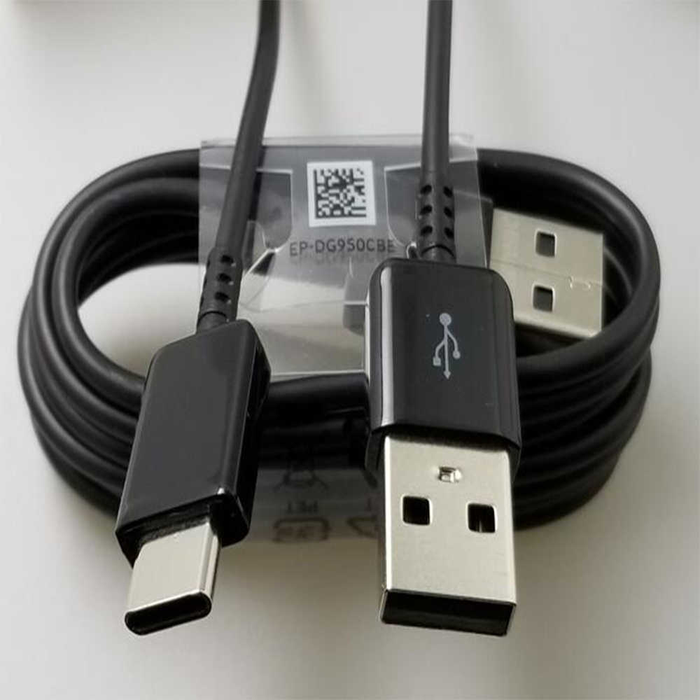 الأصلي سامسونج نوع C كابل سريع شحن USB-C نوع-C سريع شاحن غالاكسي S8 s9 plus ملاحظة 8 9 S8 9 C5 C7 C9 كبل شحن