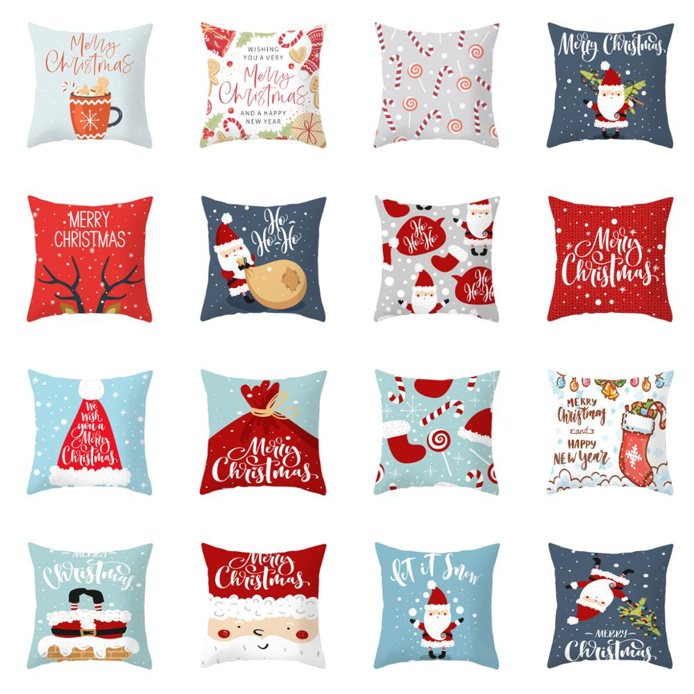 ZENGIA Christmas Pillow Covers Christmas Cushion Covers Decorative Pillows For Sofa Christmas Decorations For Home Pillowcase