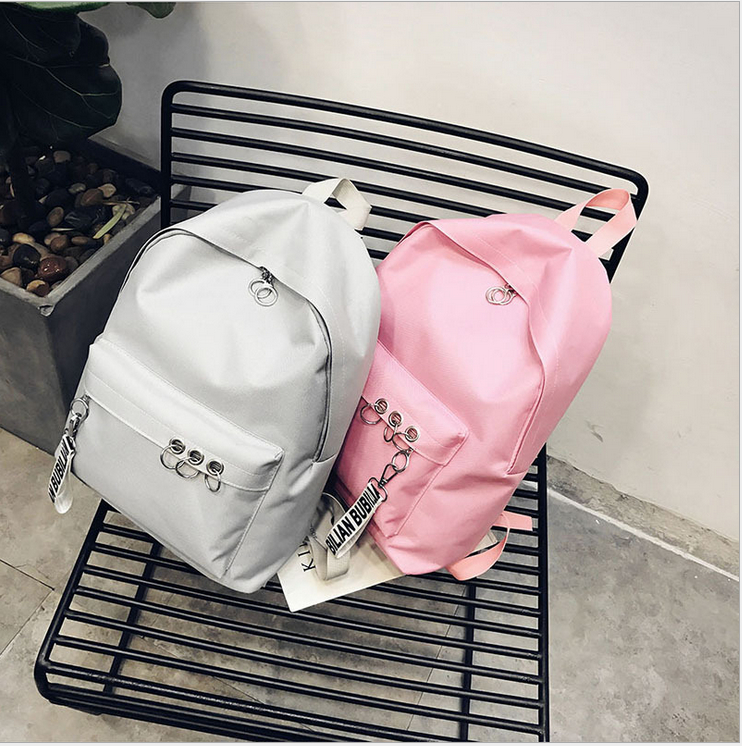 New Fashion Women Canvas School Bag Girls Backpack Travel Rucksack Shoulder Bags Solid Travel Bags