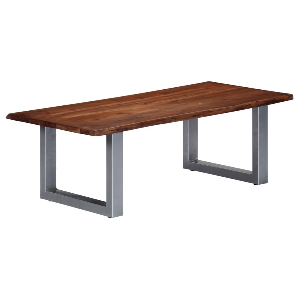VidaXL Coffee Table With Live Edges 115x60x40 Cm Solid Acacia Wood