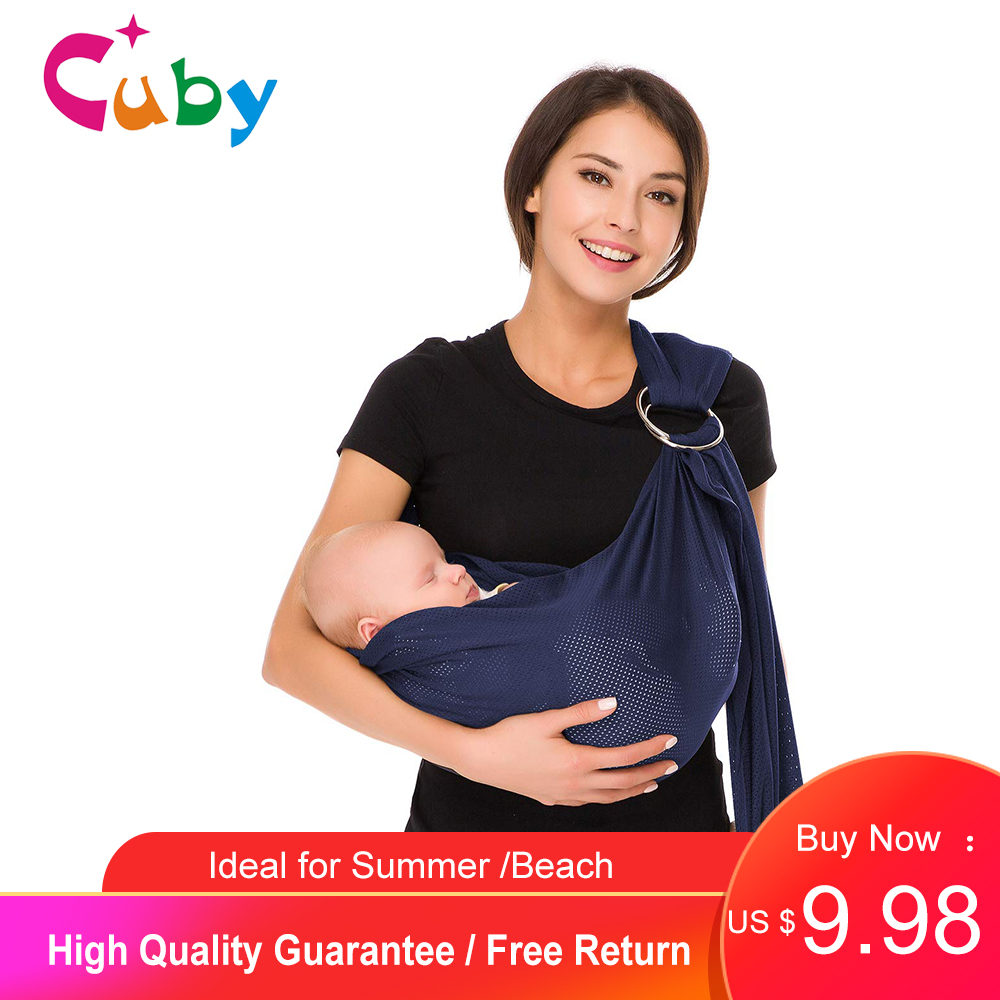Baby Carrier Wrap 0-24M Ring Sling Baby Carrier Breathable Mesh Fabric Ideal for Summers Kangaroo Newborn  Infant  Child Sling