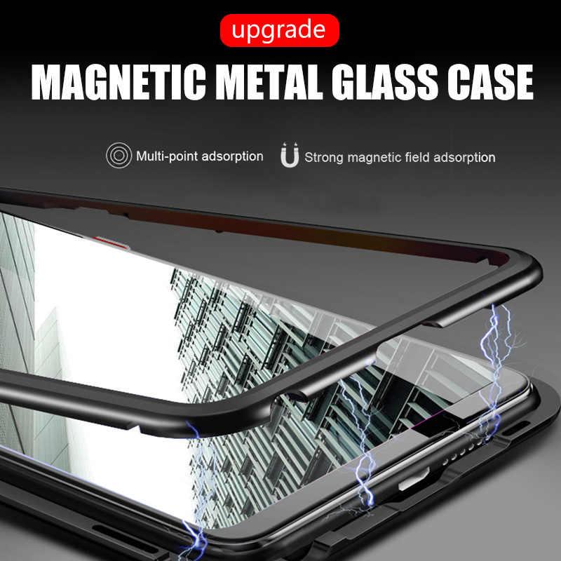 高級磁気吸着耐衝撃ケース Huawei 社 P30 P20 名誉 10 Lite メイト 20 プロ 1080p スマート 2019 強化ガラスバックカバー
