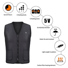 Men Women Outdoor USB Infrared Heating Vest Jacket Winter Flexible Electric Heated Thermal Clothing Waistcoat Fishing Hiking cheap Balight heated vest WINDSTOPPER N2S Polyester Fits true to size take your normal size