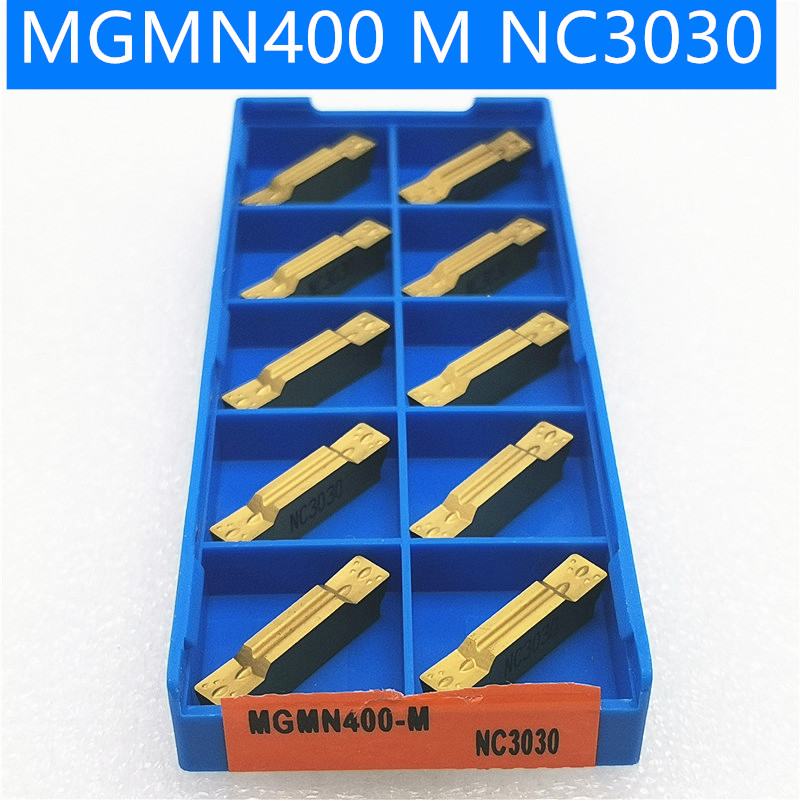 10pcs Slotting Tool MGMN150 MGMN200 MGMN300 MGMN400 NC3020 NC3030 PC9030 Slotting And Cutting Carbide Metal Lathe
