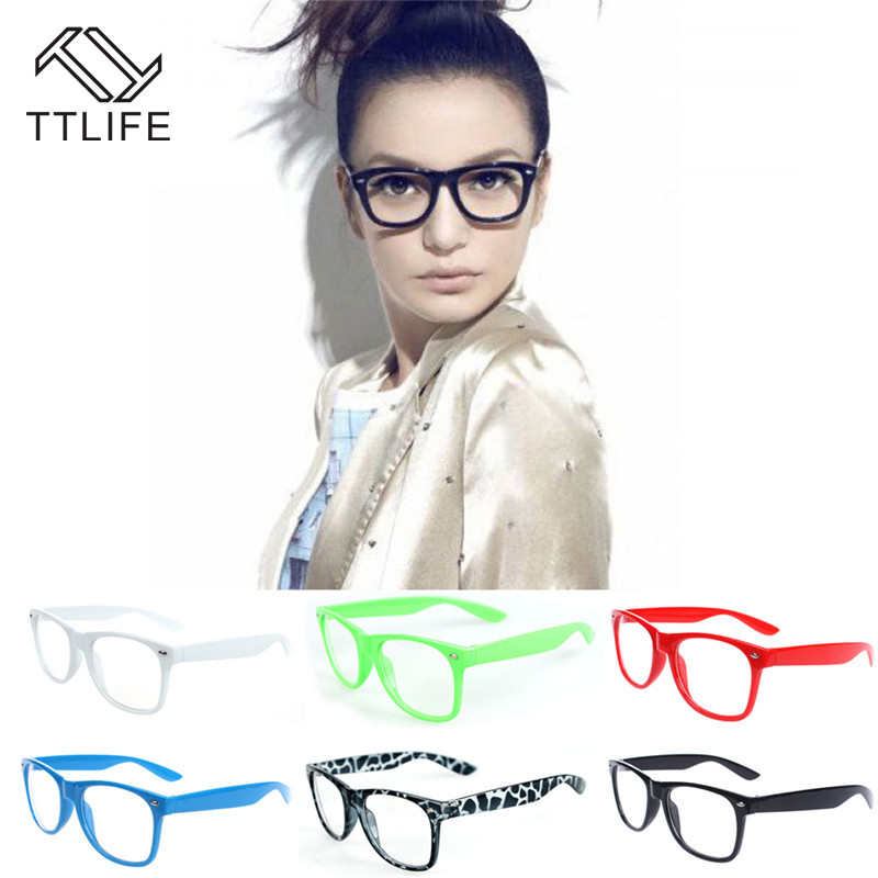 TTLIFE Flat Glasses Literary Flat Mirror Optical Glasses Classic Portable Multiple Styles Pc White Collar Office Blue YJHH0326