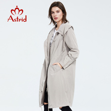 Astrid 2020 new Spring fashion long trench coat Hooded high quality Urban female