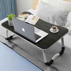 Studenten Wohnheim Bett Artikel Laptop Tisch mit Tablet Karte Slot Lernen Schreibtisch Schreibtisch Klapp Kleinen Tisch