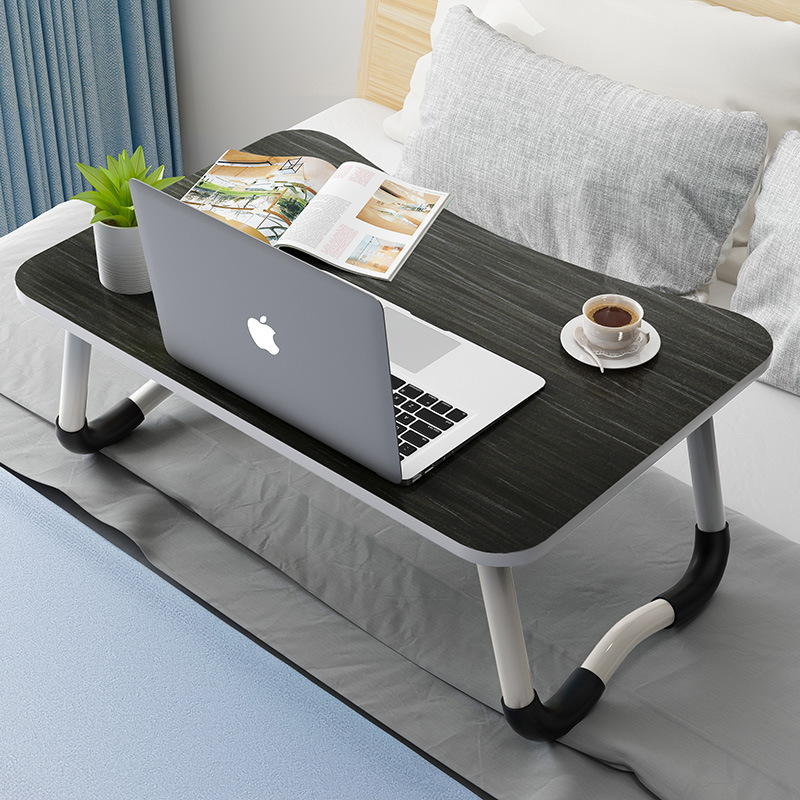 Students Dormitory Bed Item Laptop Table With Tablet Card Slot Learning Desk Writing Desk Folding Small Table
