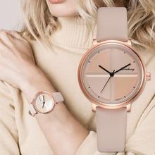 Изысканные простые Стильные женские часы, маленькие Модные кварцевые женские часы, Прямая поставка, топ бренд, элегантные часы-браслет для девушек