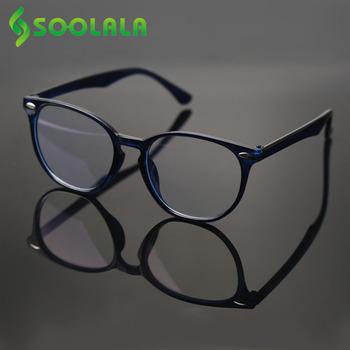 SOOLALA blokujące niebieskie światło okulary do czytania okulary kobiety mężczyźni okulary z przezroczystymi szkłami rama okulary do czytania do czytania 1 0 1 5 1 75 2 0 do 4 0 tanie i dobre opinie WOMEN Jasne CN (pochodzenie) Gradient F003ABL 4 3cm Z tworzywa sztucznego 5 2cm Anti Blue Light Reading Glasses Presbyopic Glasses Reading