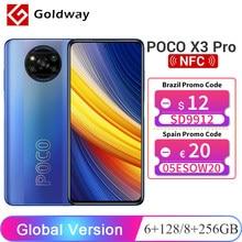 Versão global POCO X3 Pro 6GB 128GB / 8GB 256GB Smartphone Snapdragon 860 FHD+ 120Hz DotDisplay 5160mAh 33W NFC Câmera IA quádrupla