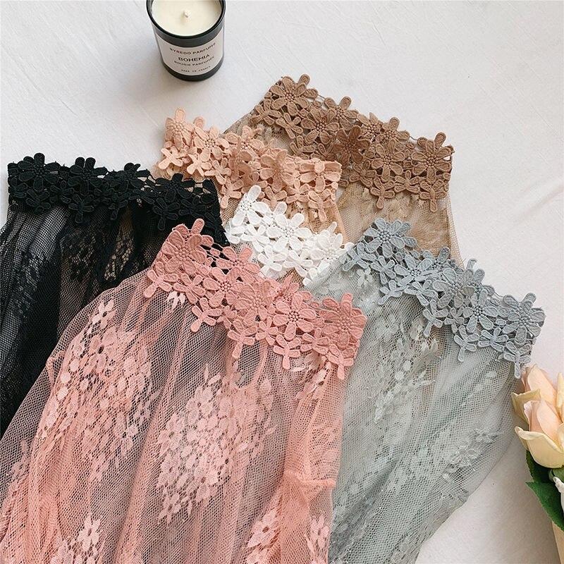 Mesh Top Black Women Sexy Lace Short Crop T Shirt Tops Sheer Transparent Harajuku Undershirt Camisas Femininas Clubwear