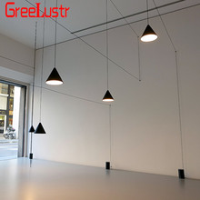 Modern Long Wire design Led Pendant Lights Geometric Pendant Lamp for living room Bedside Wall Sconce Hanging Light Fixture