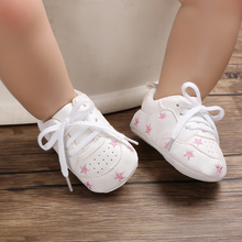 Heart Print Baby Shoes Pu Leather Shoes