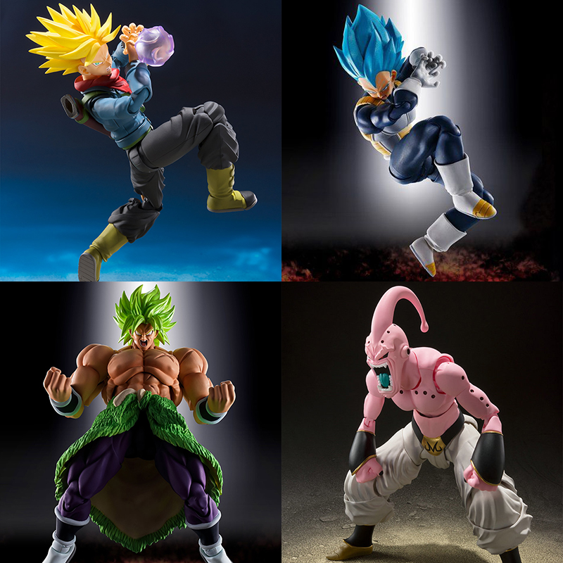 Japan Anime Dragon Ball Broli Majin Buu Vegeta Trunks Action Figure Super Vegeta PVC Model Collection Toys With Original Box