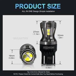 Image 2 - 2x החדש 7443 7444 7440 7441 992 W21/5W LED נורות עם מקרן עבור הפוך בלם זנב RV הפעל אות אורות לבן 6000K