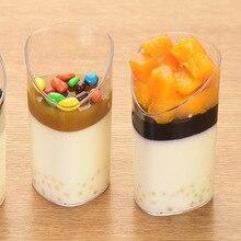 Dessert-Cups Pudding Jelly Clear Mini 10PCS 80ml Slanted Elegant