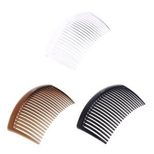 Image 1 - 5 pièces/ensemble peigne à la main 23 dents en plastique chapeaux cheveux accessoires femmes bricolage Clip