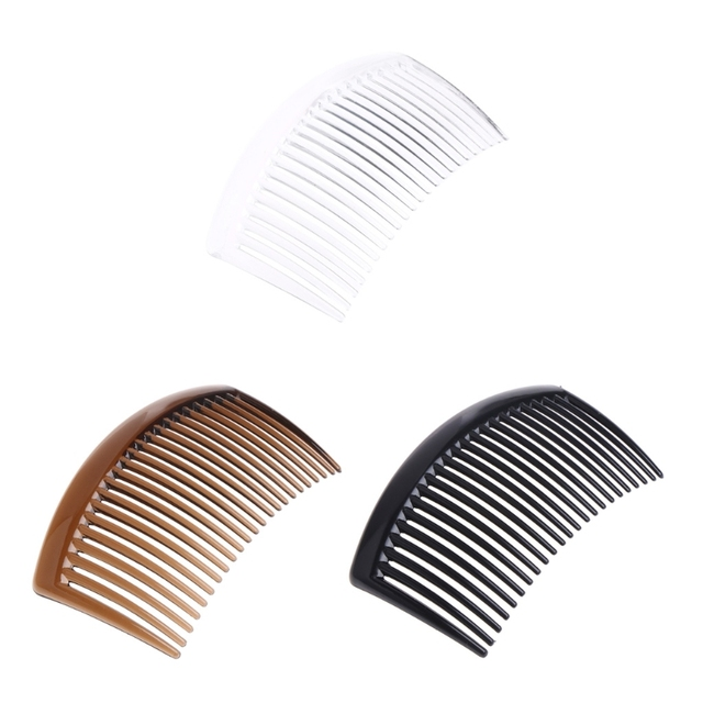 5 pièces/ensemble peigne à la main 23 dents en plastique chapeaux cheveux accessoires femmes bricolage Clip