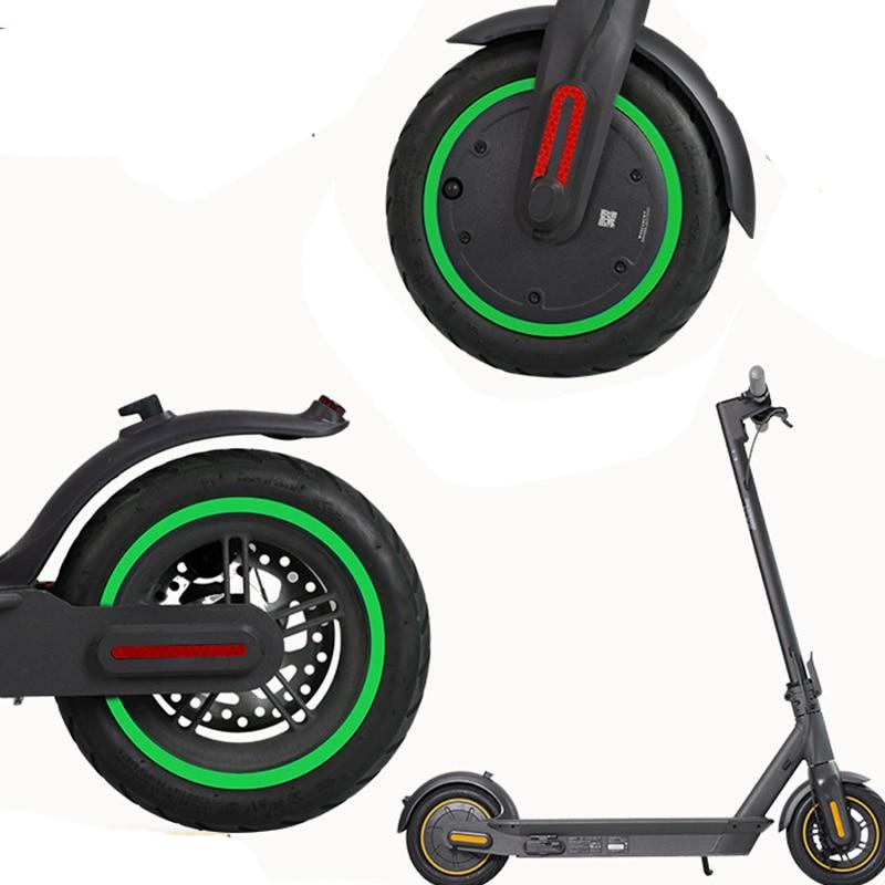 Cache Ninebot Max G30 protection roues trottinette électrique avec stickers réfl