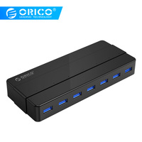 ORICO 7 Port USB 3.0 HUB with 12V Power Adapter USB Splitter OTG Adapter For Desktop Laptop PC Computer Accessories