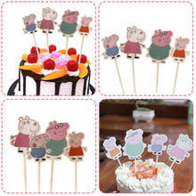 Peppa Pig Pigeon Peggy Birthday Cake Plugin Cartoon Decoration Plugin Flag Birthday Cake Decoration Child Birthday(China)