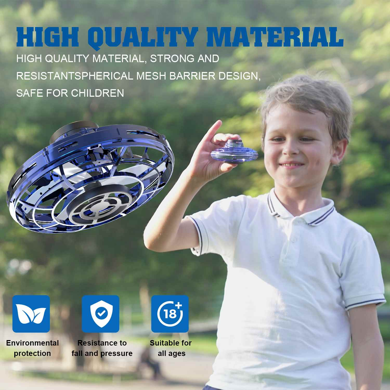 Flynova Athletic Game Toy Antistress Hand Mini Flying Gyro Drone For Ufo Led Fidget Finger Spinner Route Rotary Child Gift