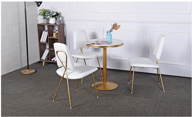 Купить с кэшбэком Leisure coffee shop discussion table and chair combination marble net red shop restaurant small round table milk tea shop table