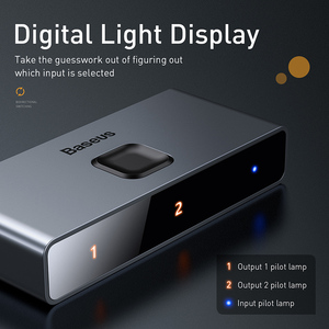 Image 4 - Baseus HDMI 스위치 4K HDMI 스위치 어댑터 HDMI 스위치 2x1 PS4/3 TV 박스 스위치 HDMI 양방향 스위치 게임 TV HDMI 스위처