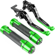 все цены на For kawasaki Z1000 Z 1000 2003-2006 2004 2005 LOGO Z1000 Motorcycle CNC Adjustable Brake Clutch Lever Handle Hand Grips онлайн