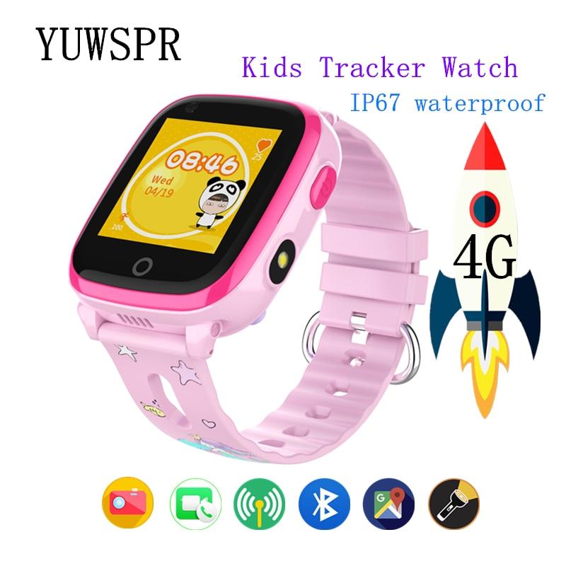 Kids GPS Tracker 4G Smart Watch Video Call IP67 Waterproof Bluetooth GPS LBS WIFI Location Children Smart Clock DF33Z 1pcs
