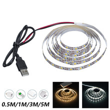 3M USB Flexibele Tira CONDUZIDA Luz SMD 2835 Não-Impermeável TV Fundo Iluminação Decoracion Lint Fita Tira Backlight