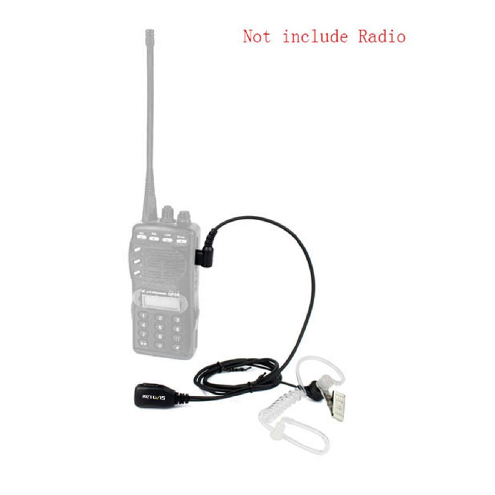 Retevis T-001 1 Pin PTT MIC Noise Reduction Covert Air Acoustic Tube Inera Earpiece For Motorola Walkie-Talkie T6200C/T5800/7200