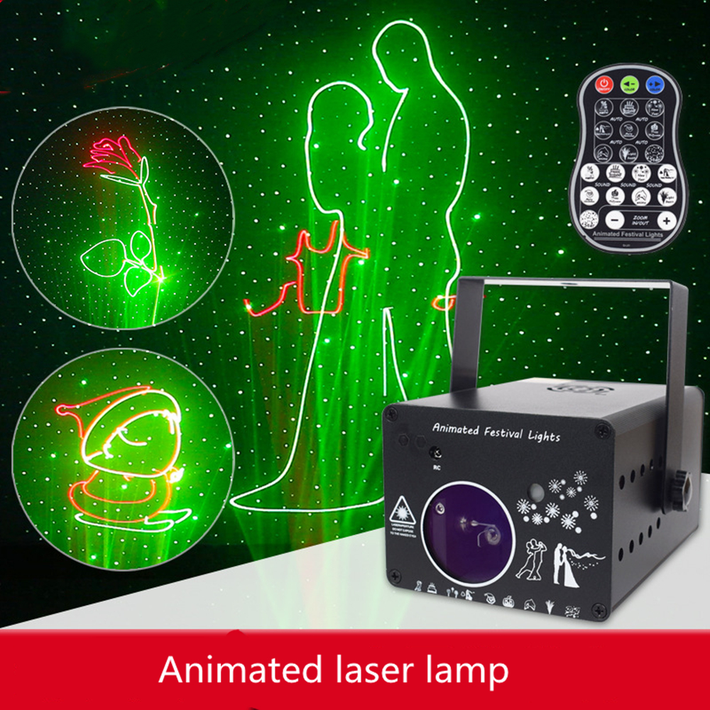 3D Laser Light Rgb Colorful Dmx 512 Scanner Projector Party Xmas Dj Disco Show Lights  Music Equipment Dance Floor Lights