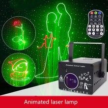 3D światło laserowe Rgb kolorowe Dmx 512 skaner projektor Party Xmas Dj pokaz Disco światła sprzęt muzyczny parkiet taneczny światła