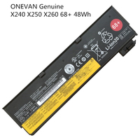 Bateria Genuine para Lenovo Thinkpad X270 ONEVAN X260 X240 X240S X250 T450 T470P T450S T440S K2450 W550S 45N1136 45N1738 68 + 48Wh|Baterias p/ laptop| |  -