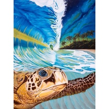 Unframed DIY Oil Painting Paint By Numbers For Adults Kids Beginners - Sea Turtle And Wave