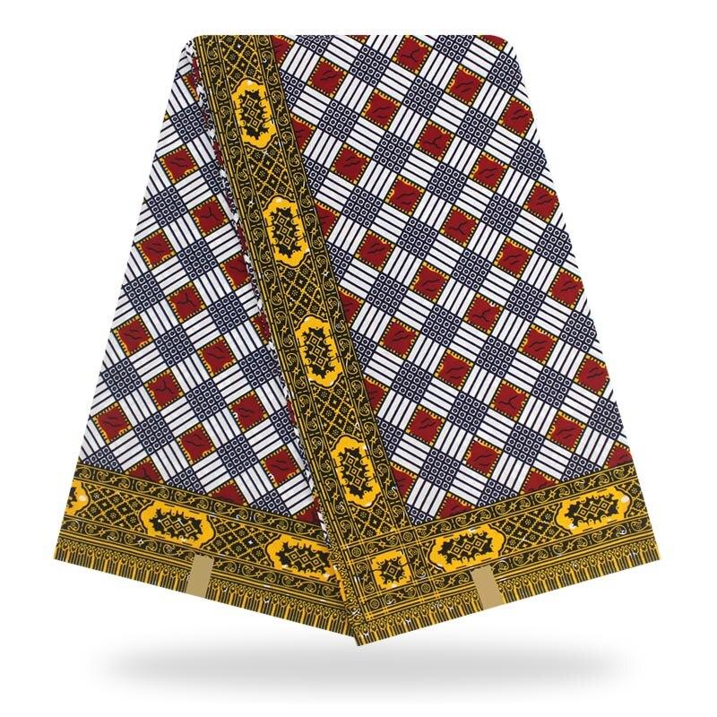 African Wax Prints Fabric Nigeria  Veritable Wax 100% Cotton 6 Yards 2020 New Ankara Cotton Material For Dress