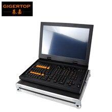 Mini contrôleur d'éclairage de scène Grand MA, livraison gratuite, Pack Flightcase pour DJ Disco DMX tête mobile faisceau lavage Spot écran tactile