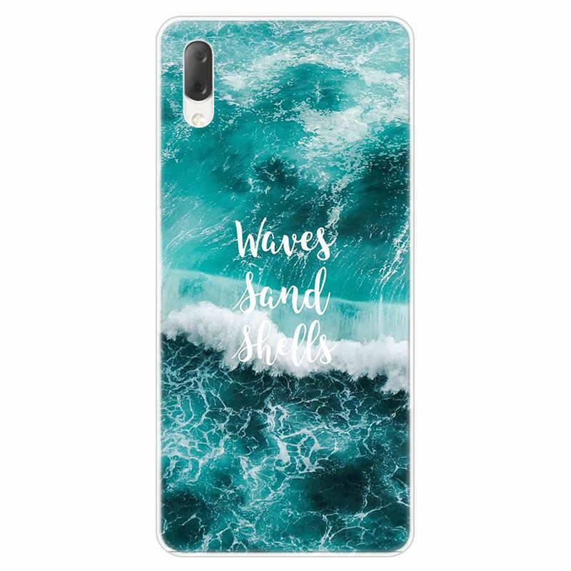 Lato plaża rozgwiazda błękitne niebo skrzynka dla Sony Xperia L1 L2 L3 X XA XA1 XA2 Ultra E5 XZ XZ1 XZ2 kompaktowy XZ3 M4 Aqua Z3 Z5 Premium