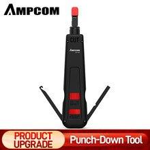 AMPCOM-Herramienta de inserción de cables de red multifunción, Terminal de impacto de teléfono de dos cuchillas, tipo 110