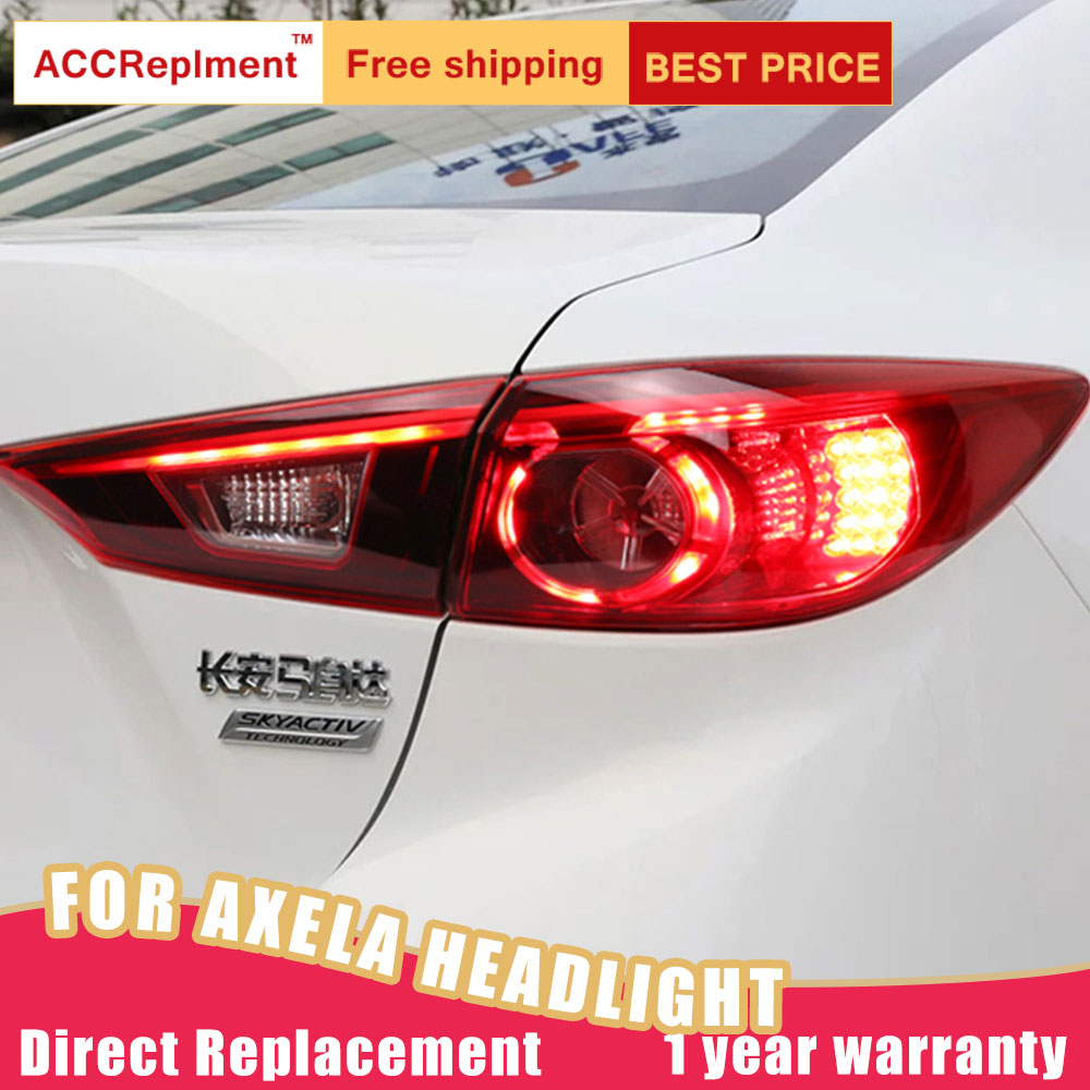 New <font><b>LED</b></font> Taillights Assembly For <font><b>Mazda</b></font> <font><b>3</b></font> Axela 2014-2018 <font><b>LED</b></font> Rear <font><b>Lamp</b></font> Brake Reverse Light Rear Back Up <font><b>Lamp</b></font> DRL Car Tail lights image