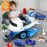 Pista de simulación de inercia DIY para niños, avión de pasajeros, modelo de vehículo, estación de estacionamiento, juego educativo