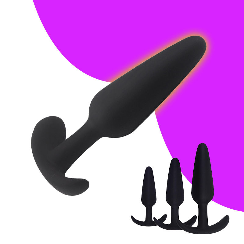 Silicone Anal Dildo Butt Plug Anal Plugs Unisex Sexy Stopper 3 Different Size Adult Sex Toys For Men Women Gay Trainer Massager