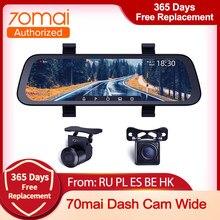 70mai Nieuwe Aankomen 9.35 Inch Auto Dvr Streaming Achteruitkijkspiegel Dash Camera Hd 1080P Video Recorder Dual Lens met Achteruitrijcamera Cam