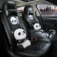 5 Seats/set Cartoon Car Seat Cover Leather Cushion For Ford Focus Mk1 2 3 Mondeo Mk4 Fiesta Mk7 Fusion Kuga