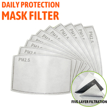 10/20/50/100PCS 5 Layers PM2.5 Filter Paper Activated Carbon Adult Child Anti Haze Mouth Ma
