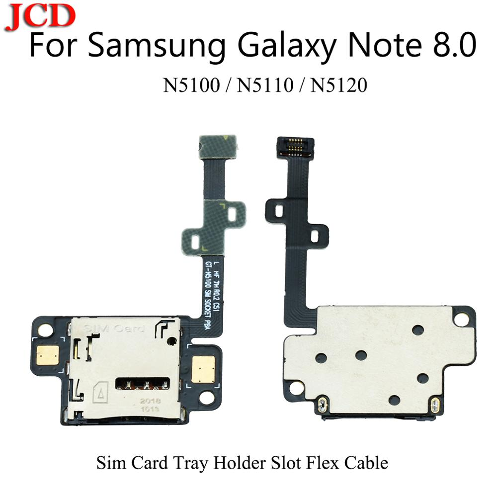 JCD SIM Card Holder Tray Slot Reader Flex Cable For Samsung Note 8.0 N5100 GT-N5100 New Sim Card Tray Holder Slot Flex Cable