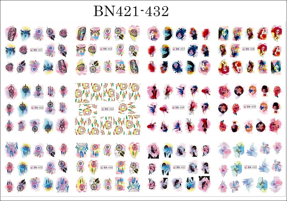 12pcs Valentines Manicure Love Letter Flower Sliders for Nails Inscriptions Nail Art Decoration Water Sticker Tips GLBN1489-1500 22