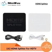 Divisor HDMI 4K Full HD 1080p HDCP 4K, interruptor divisor 1X2, amplificador dividido, pantalla Dual para DVD, PS3, HDTV, 1 en 2 de salida